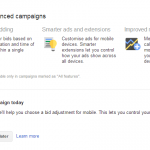 Campaigns Ads Improved With Changes to Adwords